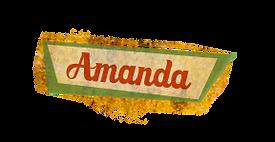 Amanda name tag- of Ernestine & Amanda books by Sandra Belton