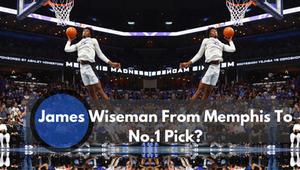 James Wiseman dunking in Memphis warm up