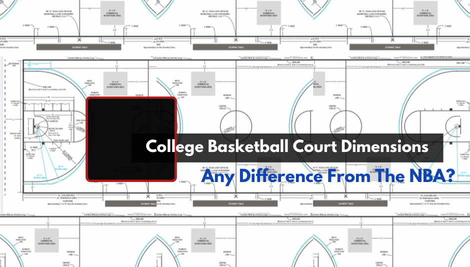 College Basketball Court Dimensions Diagram
