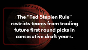 Explanation of how the Ted Stepien rule affects NBA future first round draft picks