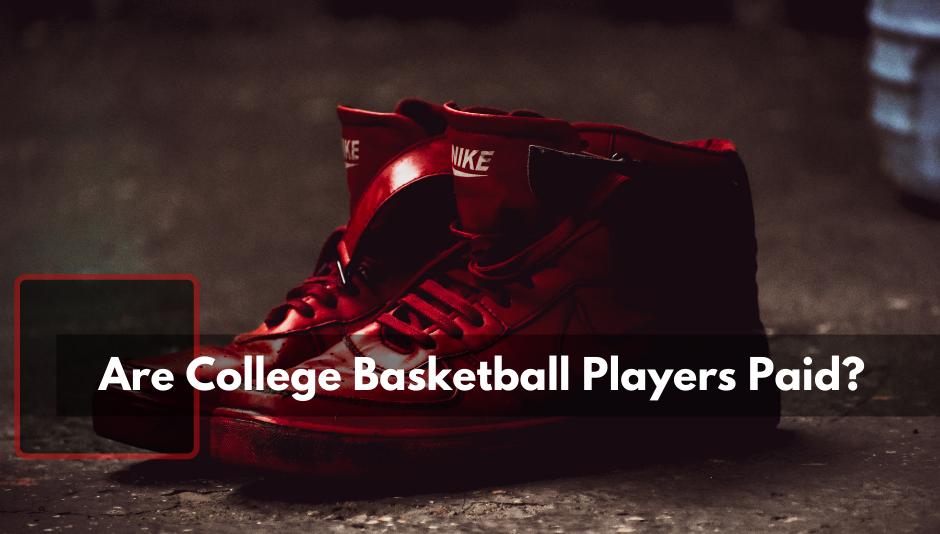 Pair of Hightop Red Air force 1 basketball sneakers