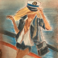 Pastel by Elisa LE HIR from painting by Pierre Farel