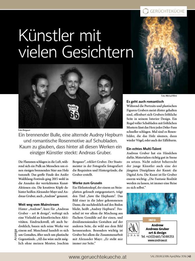 Artikel in der Salzburgerin