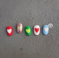 Heart-Hand Painted
