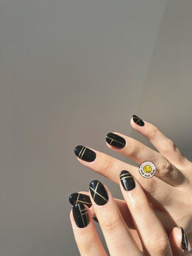 All About Lines-Hand Painted