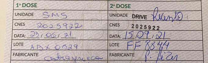 Catanduva aplica 2ª dose da Pfizer em quem tomou AstraZeneca, mediante termo de consentimento