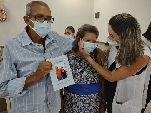 Paciente da USF do Solo Sagrado ganhou festa de aniversário surpresa