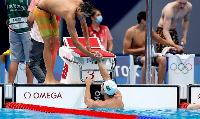 Brasil chega a uma final e em duas semifinais na natação