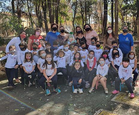 Alunos participam de programação de férias da Associação de Zoológicos e Aquários do Brasil