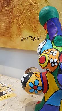 ACE expõe telas e esculturas de Gisele Faganello em mostra cultural