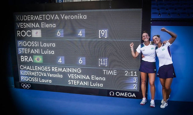 Em virada histórica, Stefani e Pigossi ganham bronze inédito no tênis