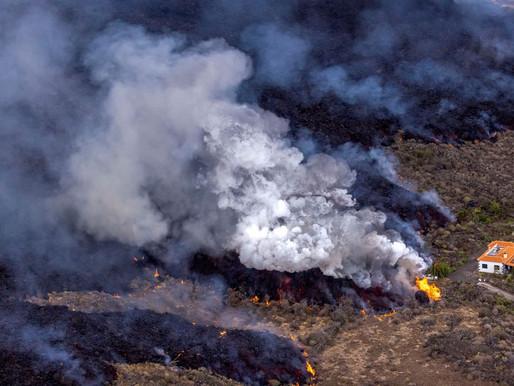 La Palma: uma casa escapou do rio de lava