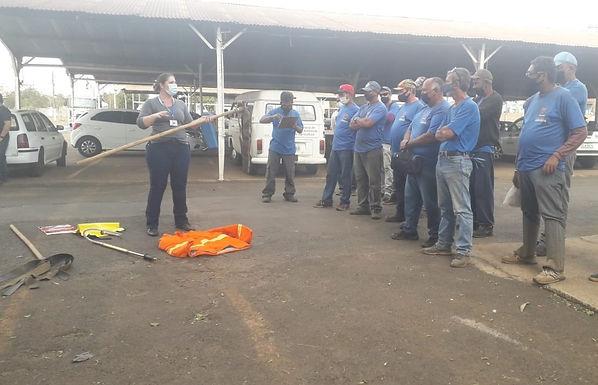 Funcionários contratados pelo PED recebem capacitação sobre riscos de queimadas urbanas
