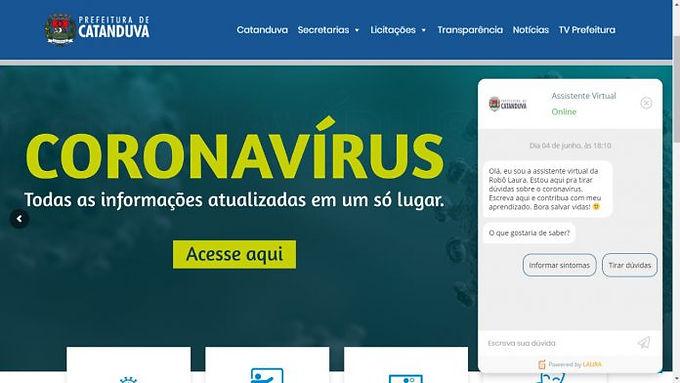 Assistente virtual monitora casos suspeitos e confirmados de Covid-19