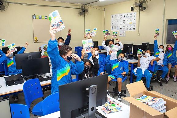Concessionária inicia 'caravana do trânsito' com atividades em escola de Catiguá