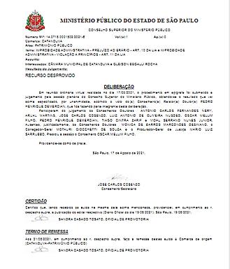 Ministério Público contradiz documento veiculado em site oficial e acata recurso da Câmara