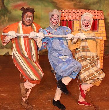 Teatro Municipal recebe musical 'Os Três Porquinhos' no dia 12