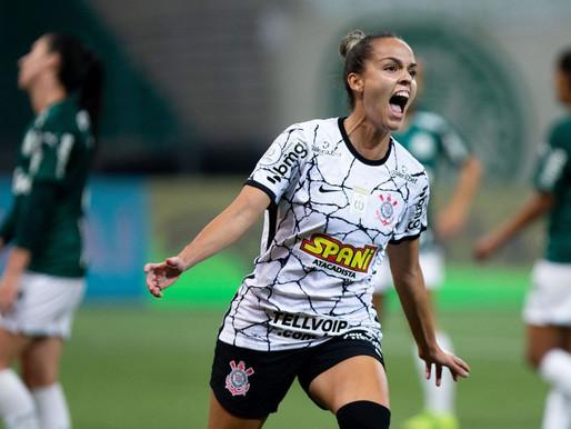 Corinthians sai na frente do Palmeiras na final do Brasileiro Feminino
