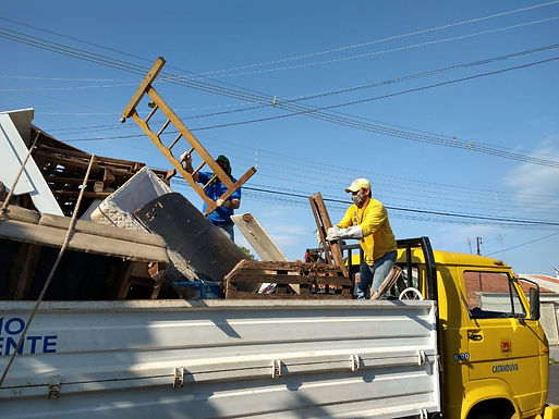 Mutirão da coleta de volumosos recolhe 21,4 toneladas de materiais em julho