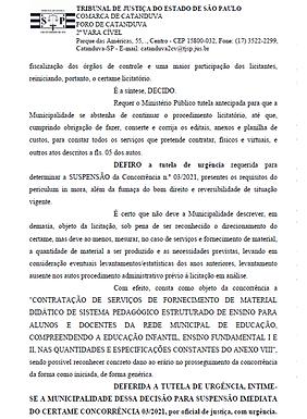 Suspensa, concorrência para compra de material didático aguarda decisão do Tribunal de Justiça
