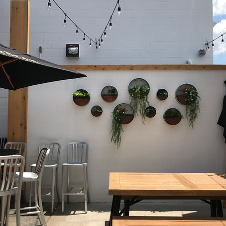s+e designs, living plant wall, live plant wall, bar design, patio design, rooftop bar, brick walls, paintdbrick walls, outdoor patio inspiration, patio esign, patio bar deign, bar design, toledo ohio, bar145