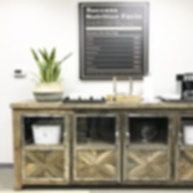 office design, corporate office design, reclaimed wood, wood hutch, snake plant, office inspiration, interior design, s+e deigns