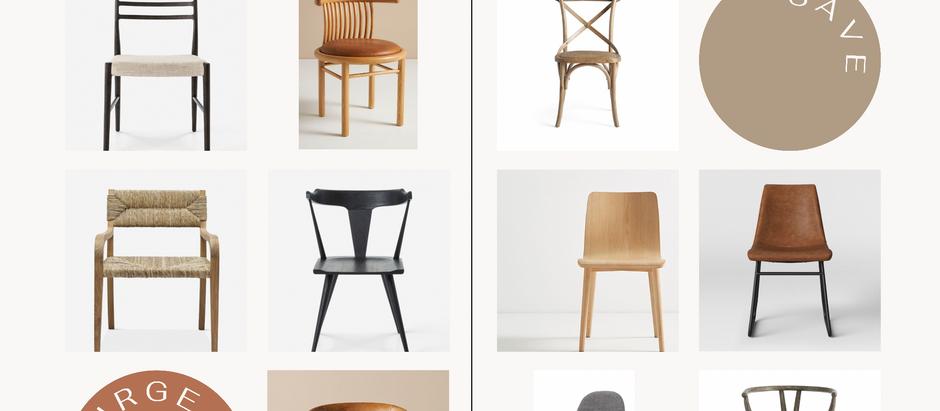 Splurge vs. Save! Dining Chair Edition