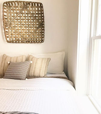 Staged bedroom and decor