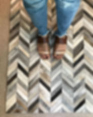 s+e designs, rug, hiderug, chevron rug, rug pic, feet on rug, cute sandals, leather sandals, feet