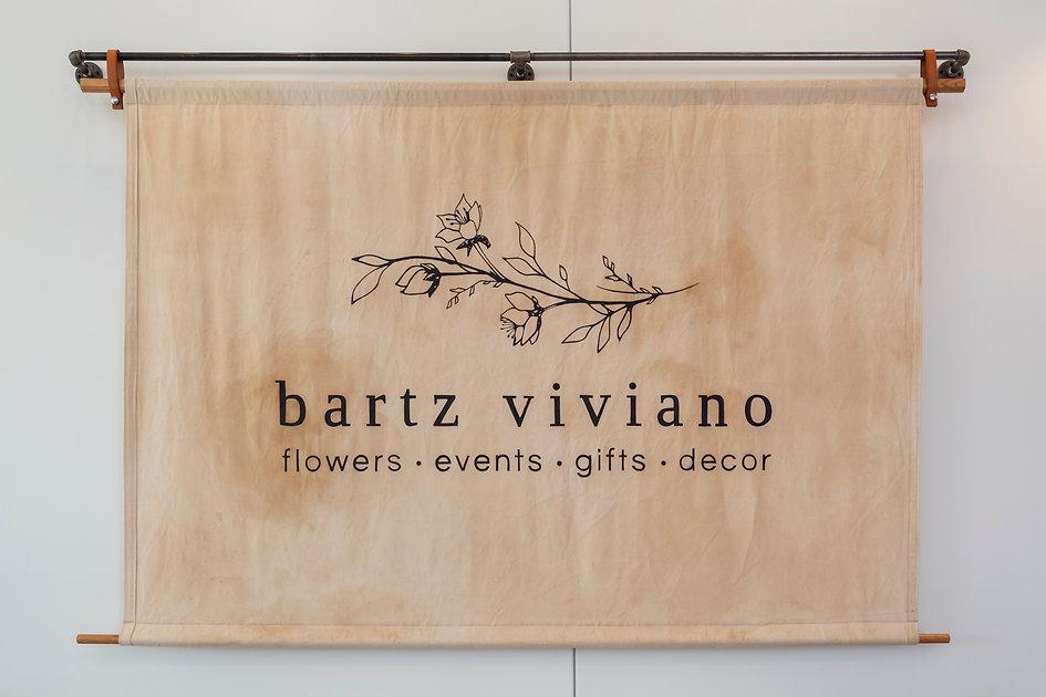 canvas boutique sign, canvas lathe sign, cavas sign, white walls, bartz viviano, s+e designs, s and e designs