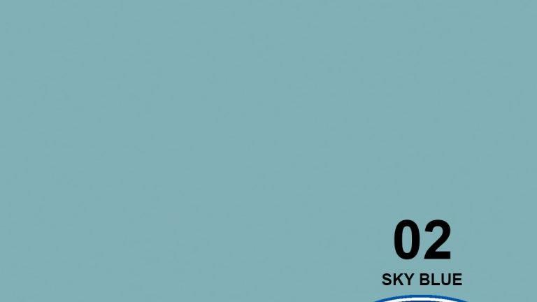 "53"" Sky Blue #2 Seamless Paper"