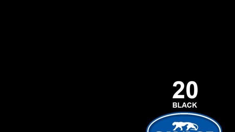 "107"" Black #20 Seamless Paper"