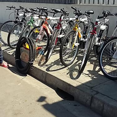 Envoi des vélos à 560kms