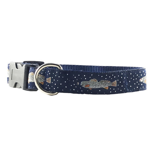 Speckled Trout Dog Collar