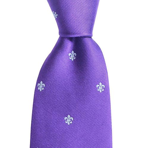 Fleur de Lis Woven Silk Tie
