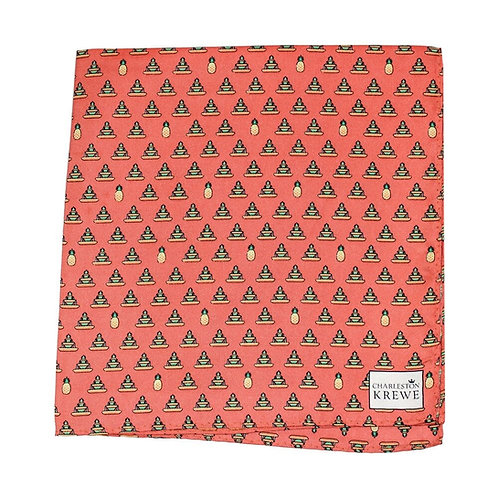 Pineapple Fountain Pocket Square
