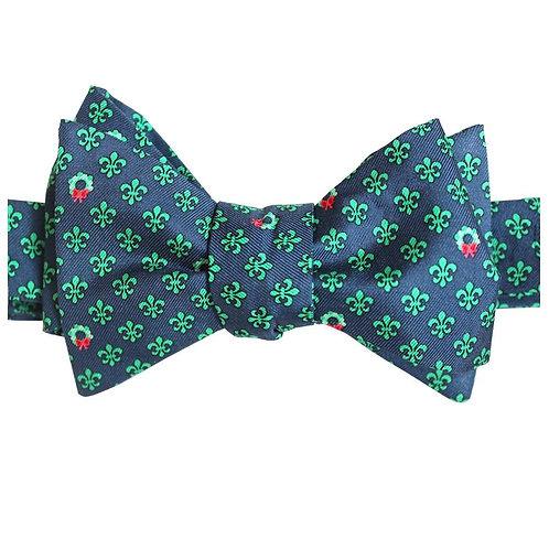 Christmas Fleur de Lis Bow Tie