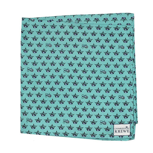 Shrimp Trawler Pocket Square