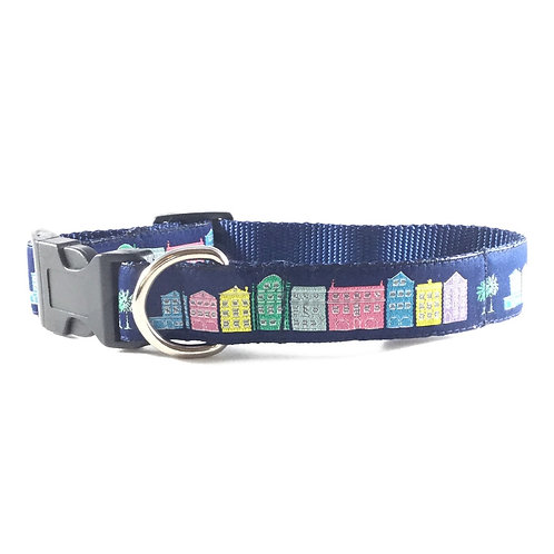 Rainbow Row Dog Collar