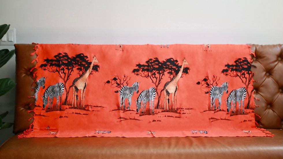 Various African Wraps with African Map & Safari Animals