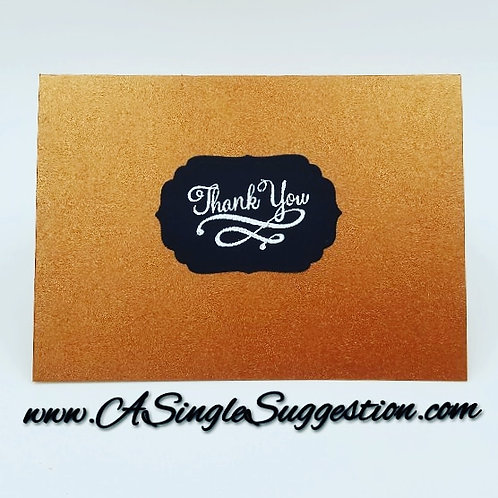 Elegant Thank You Note Card Set