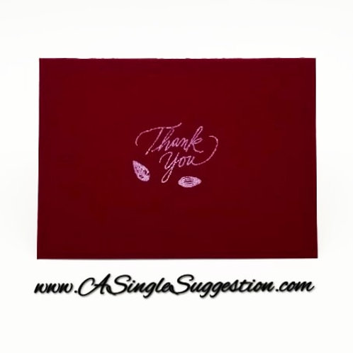 Thank You Note Card Set