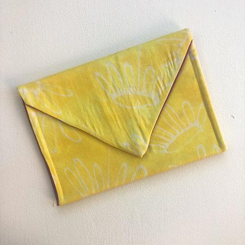 Yellow Daisy Envelope Clutch