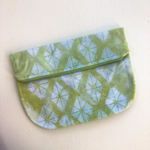 Chartreuse Diamond Fold-Over Clutch