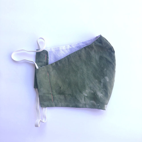 Sage Green Face Mask with Pink Lining
