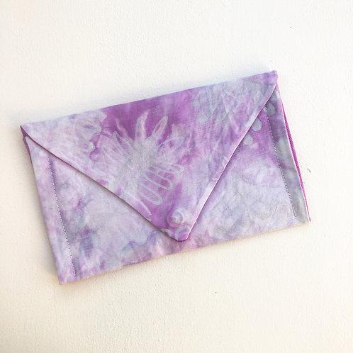 Fushia Daisy Envelope Clutch