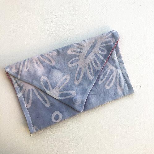 Dusty Blue Daisy Envelope Clutch