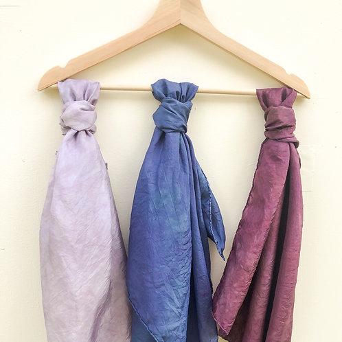 Purple Silk Scarves