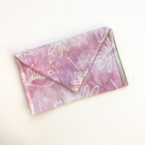 Pink Daisy Envelope Clutch
