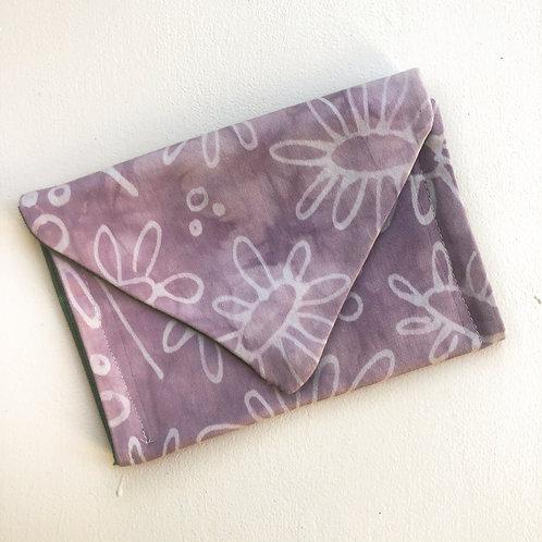Lavender Daisy Envelope Clutch